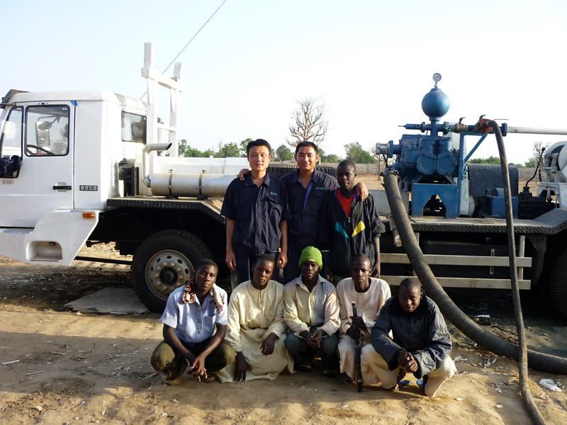 BZC350 truck mounted water well drilling rig in Nigeria, Africa