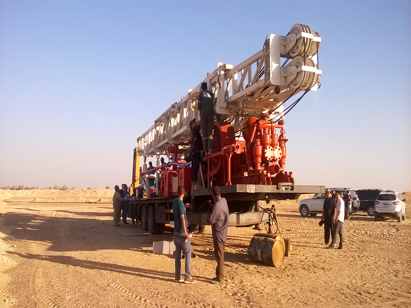 BZT1500 trailer mounted drilling rig  in Egypt construction site