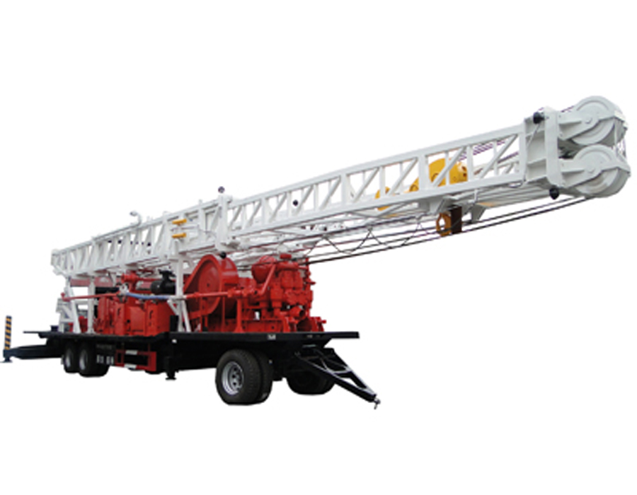 BZT1500 trailer mounted water well drilling rig