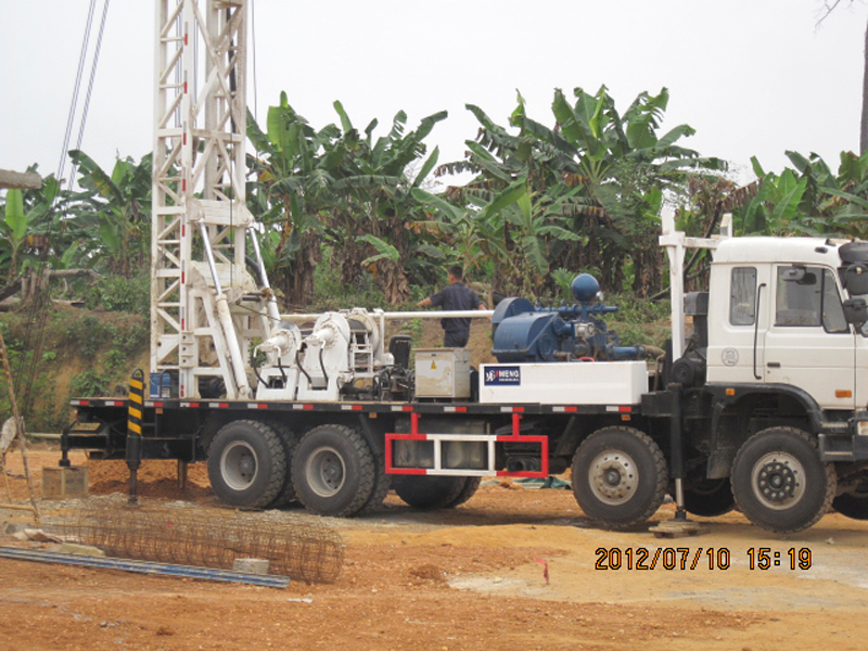 BZC400DF water well drilling rig in Angola