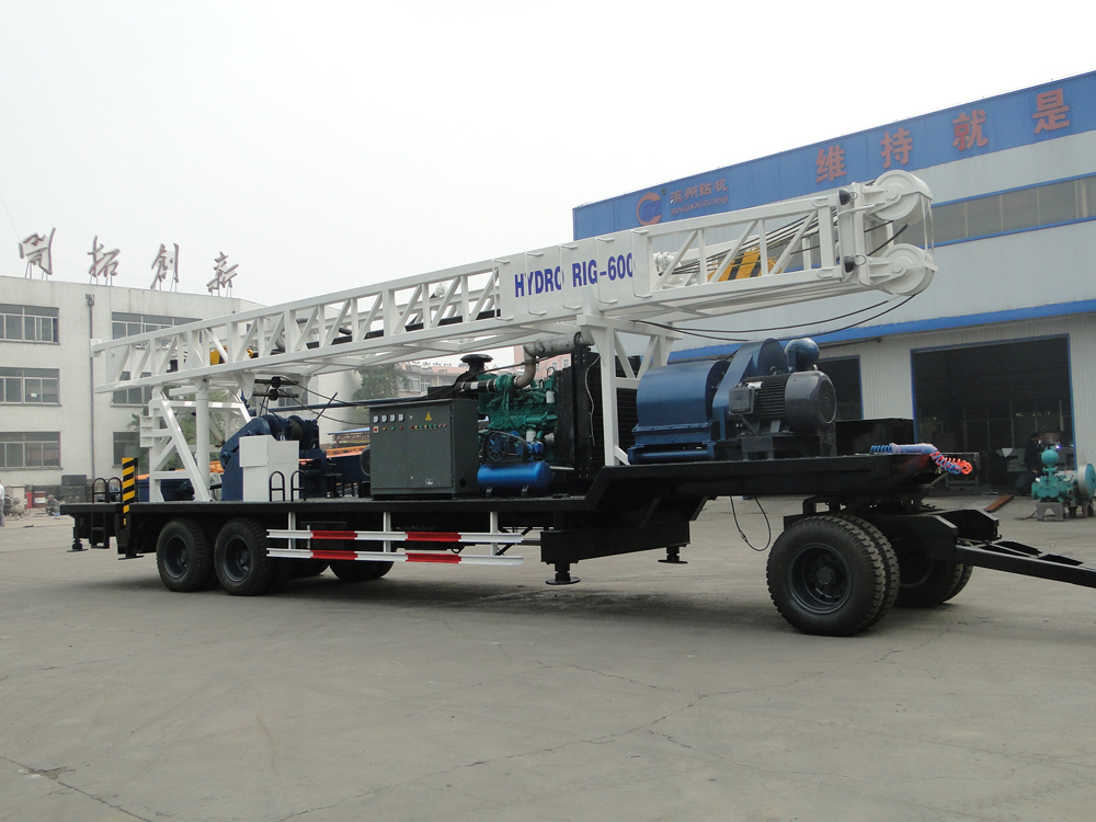 BZT600 tralier mounted drilling rig